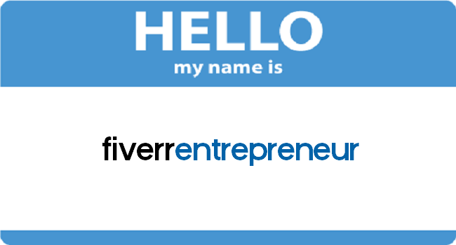 welcome to fiverr entrepreneur